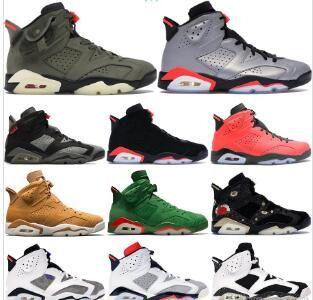 2020 Hombres 6 6s zapatos de baloncesto de Nueva Bred Tinker UNC Gato Negro Blanco Rojo Carmín infrarrojos Toro del diseñador del Mens Tamaño Trainer deporte zapatilla de deporte 36-46