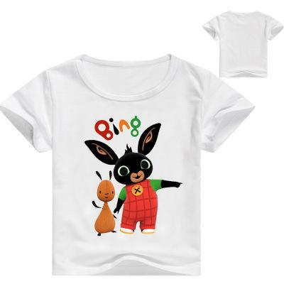 2020 Kids Summer Clothes Children Game T-shirt Bing Bunny 3D Printed Boys Girls T Shirt Girls Cartoon Tops Tees 3-14Y Rabbit Shirt