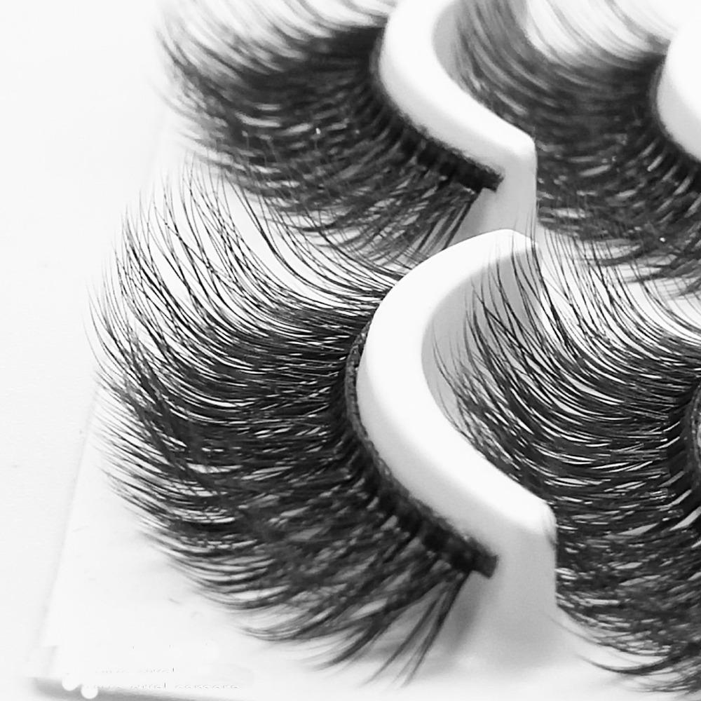 Nuevo 10 pares de pestañas 100% pestañas falsas naturales 3d pestañas 3d extensión de pestañas suaves kit de maquillaje