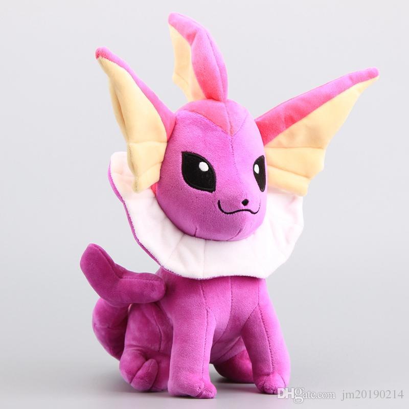Großhandel Hot! New Toy Lila Vaporeon Soft-Puppe-Plüsch-Spielzeug für Kinder Weihnachten Halloween beste Geschenke 11.8inch 30cm