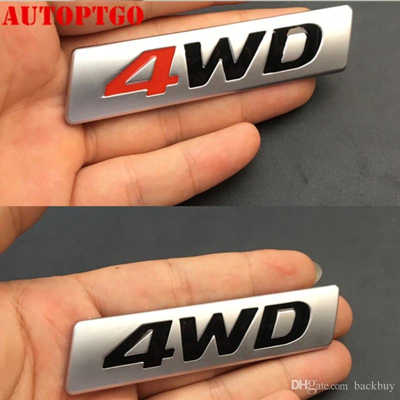 Gümüş Araç Gövde Sticker AWD 2.5 2.0 4WD Harf Amblem Rozet Çıkartması İçin Mazda CX5 İçin cip Dodge Ram Ford F150