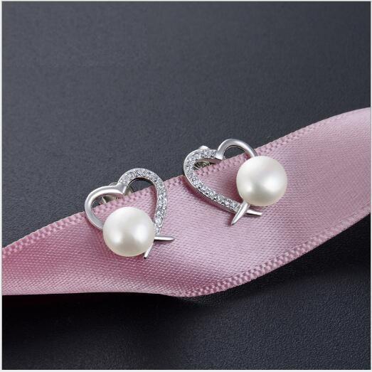 Toptan moda S925 gümüş inci küpe bayanlar moda popüler zirkon jewelry520