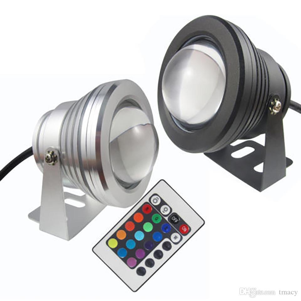 Led Sualtı Işık RGB 10W 12V Led Sualtı Işık 16 Renkler 1000LM Su geçirmez IP68 Çeşmesi Havuz Lambası Aydınlatma