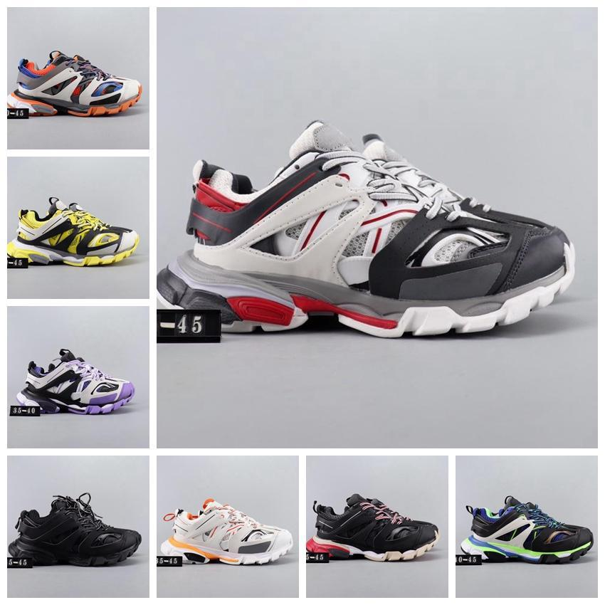 París 3 Triple S Hombres Mujeres Casual 2020 de lujo del papá Zapatos Negro Blanco para hombre de la vendimia gris diseñador exterior plana aumento de las zapatillas de deporte