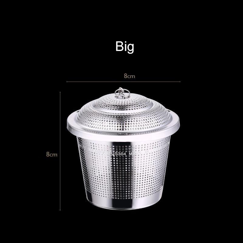 304 aço inoxidável chá Filtro de prata Tamanho Grande Médio Pequeno chá Infusers Vestir Filtro Bola Multifunction Ware h2