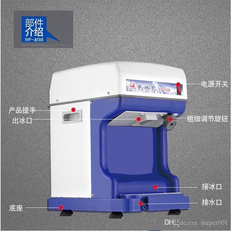 Фабрика тайваньских бритой Ice Maker Commercial Ice Shaver рубанок машина Электробритва Continuous лед Бритье для продажи