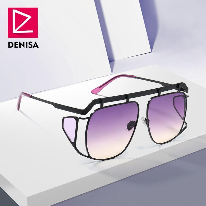 Дениса мода солнцезащитные очки мужчин к 2020 году новые модные очки большой рама квадрат солнечные очки Женщины солнечные очки UV400 объектива-де-Сол G23012