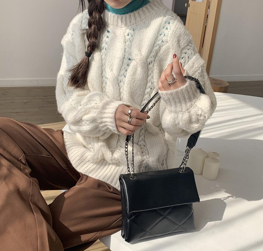 Дизайнерская сумка женщин Новые моды Чистая моды сумки Кошельки Универсальный Black Diamond Chain Одно плечо сумка