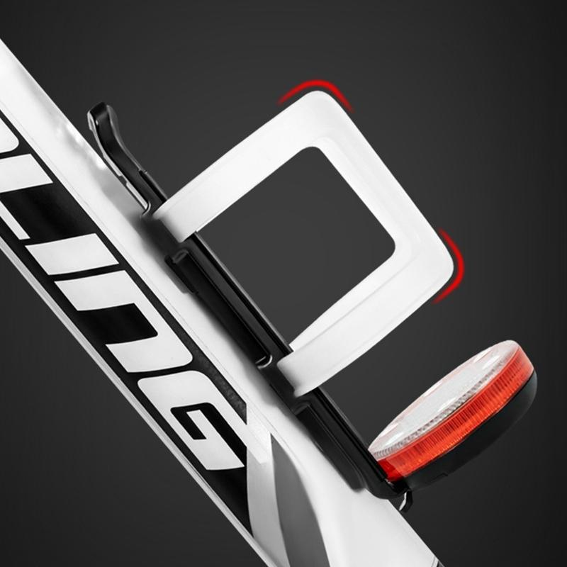 Outdoor Bike Bottle Holder USB Charging Lamp Bicycle Cycling Mountain Road Bike Kettle Bracket Accessories Water Bottles Cages