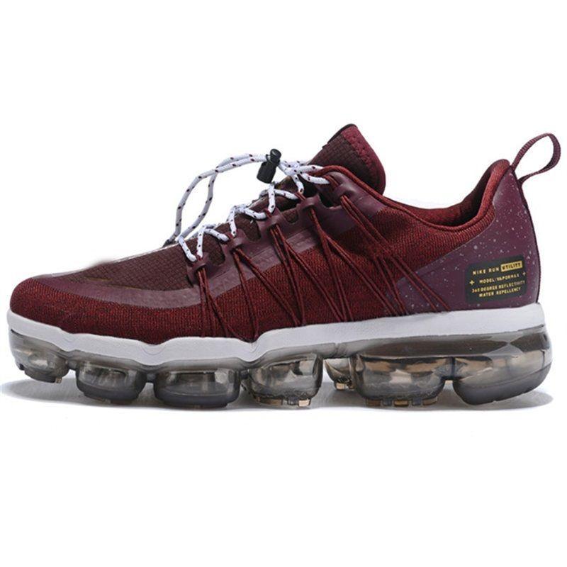 Acheter Nike Vapormax Air Max 2019 Brand New Run Utility Hommes Designers Chaussures Top En Métal Noir Anthracite Blanc Refléter Argent Casual