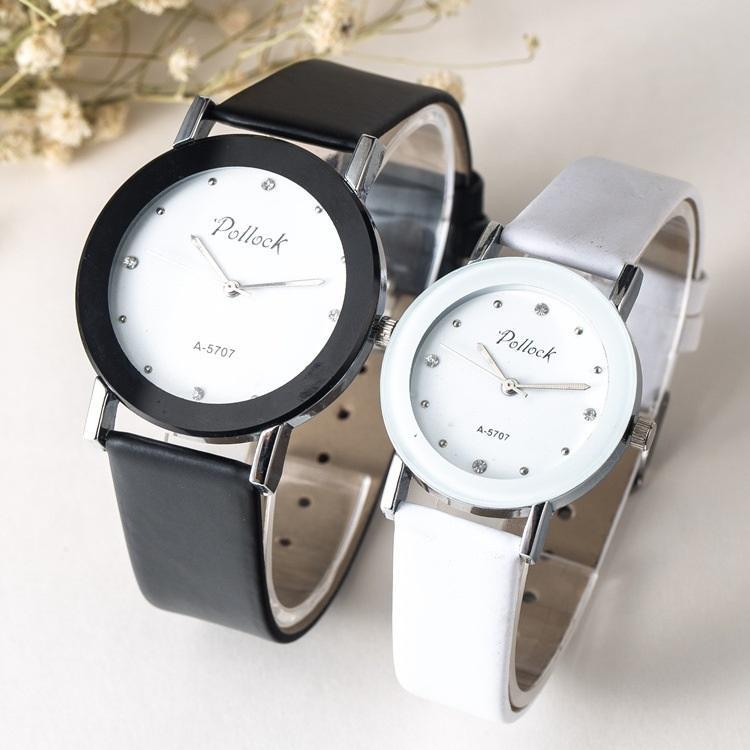nova moda de diamantes mulheres amantes de cristal casal unissex homens simples couro relógios populares relógio de quartzo vestido atacado