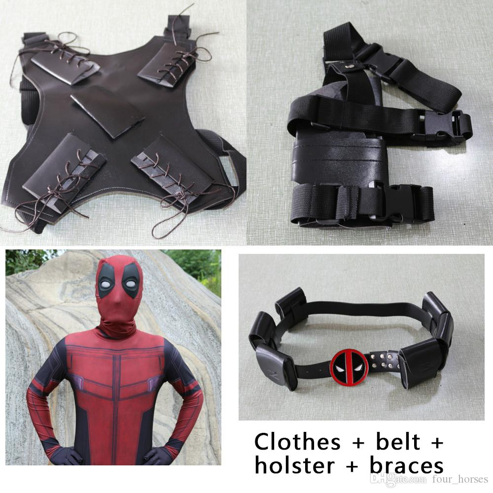 Ücretsiz nakliye Sıcak Marvel Cadılar Bayramı Deadpool Cosplay Tüm Vücut Kostüm Yetişkin Dijital Likra Kostüm Çocuk Deadpool parti sahne kıyafetler yazdır