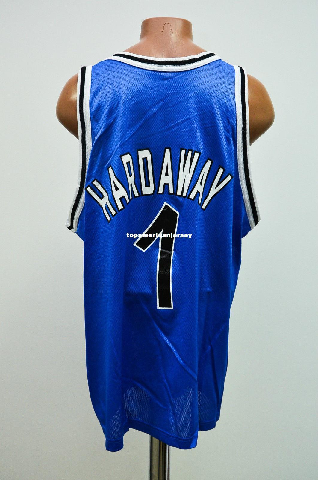 Maillot de basketball de haute qualité cousu BASKETBALL JERSEY # 1 CHAMPION HARDAWAY pour Homme Taille Top XS-6XL