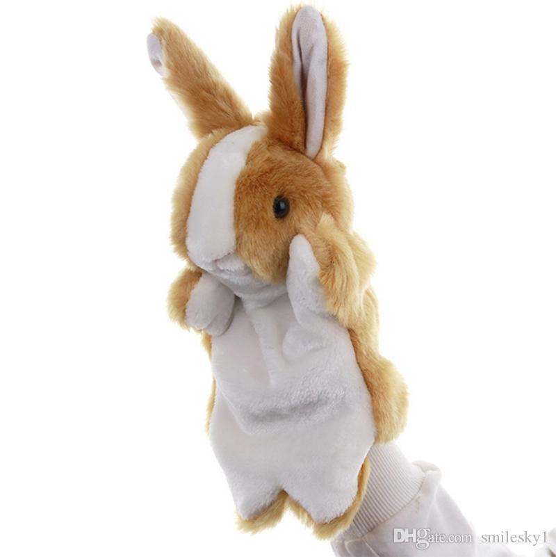 Coelho mão Puppets animal brinquedos de pelúcia para imaginativa Pretend Play Stocking Storytelling