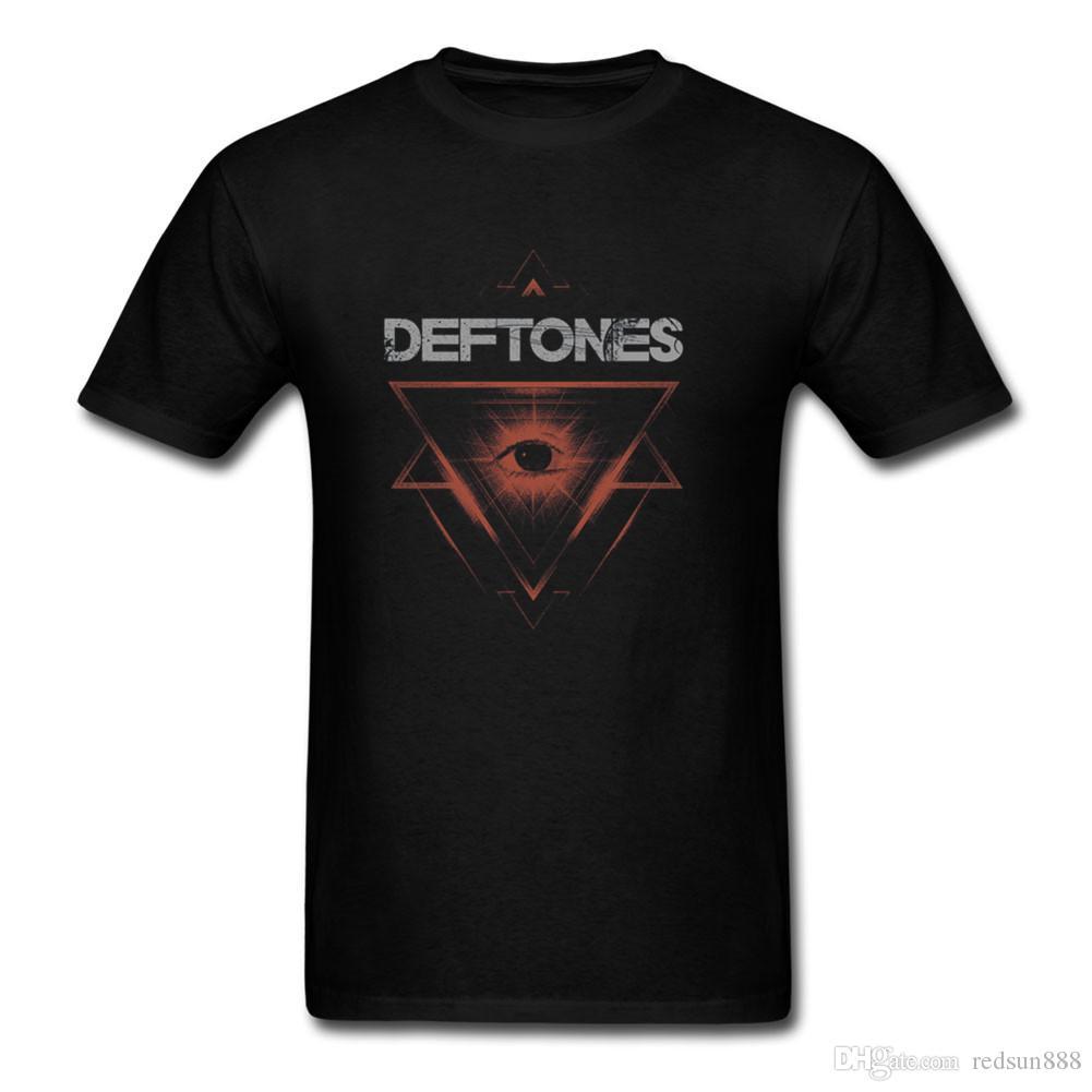 Divertido Deftones El Triángulo de diseño de impresión camiseta de los hombres adultos de Nueva Banda cómodo todo el algodón camisetas de deporte Tee Shirts de Navidad