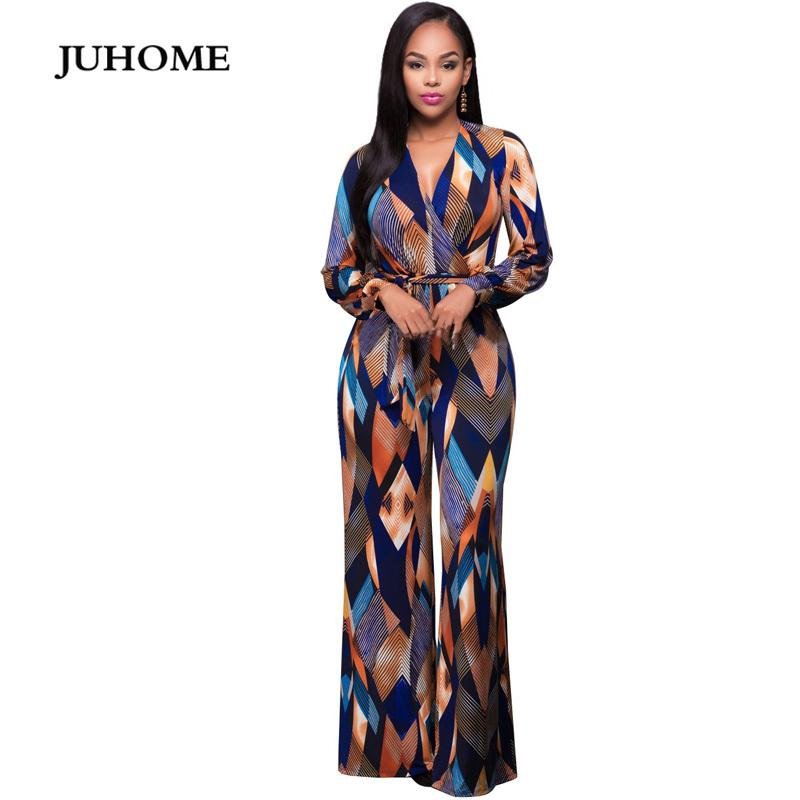 2018 Autumn Fashion Big Jumpsuit Romper Women Long Sleeve High Elastic Overalls Lace Up Wide Leg Jumpsuit Plus Size Long Pants T200107