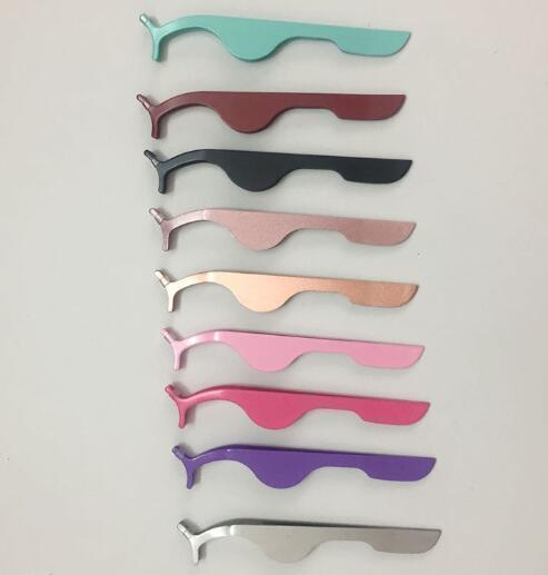 Top Seller False Eyelash Tweezers Fake Eye Lash Applicator Eyelash Extension Curler Nipper Auxiliary Clip Clamp Makeup Tools
