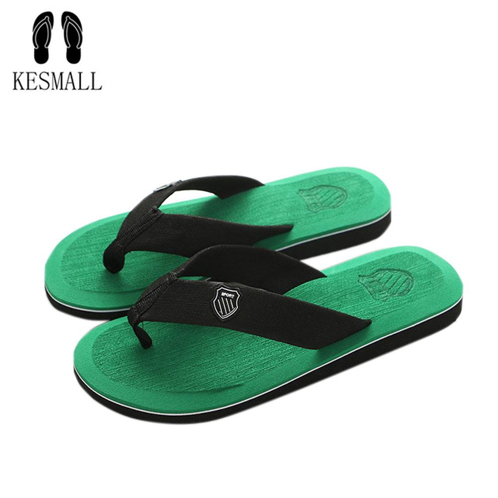 KESMALL Yeni Varış Yaz Erkekler Çevirme Yüksek Kaliteli Plaj Sandalet kaymaz Zapatos Hombre Rahat Ayakkabılar Drop Shipping A10
