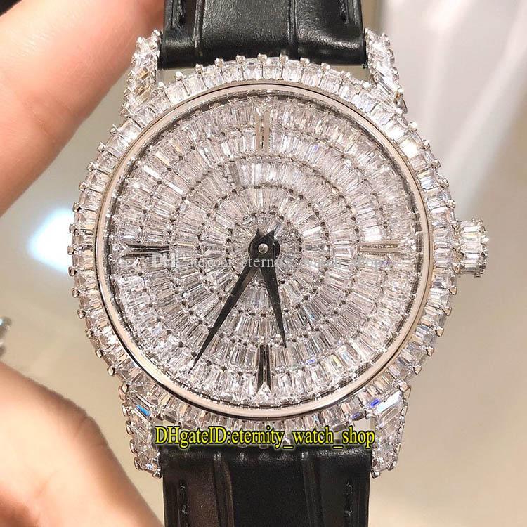 DM أعلى الإصدار تقليدي مجوهرات سلسلة 82760 / 000G-9852 الماس الهاتفي مياوتا 9015 التلقائي رجل ووتش الماس حالة مصمم الساعات