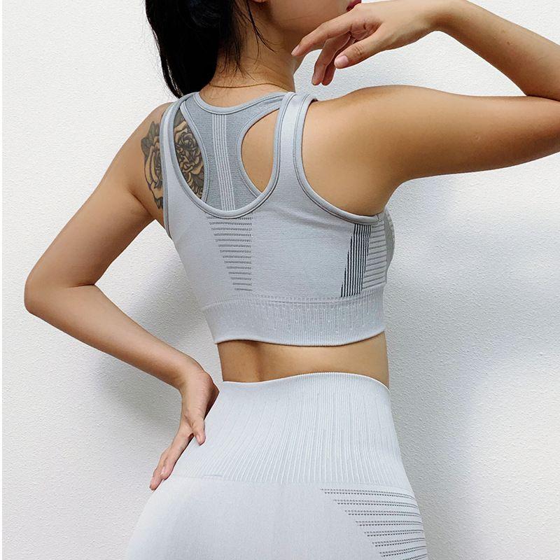 Sports Yoga Bras Non-steel Ring Shockproof Stereotypes Anti-sag Fitness Vest Beauty Back Underwear Women Running Bra Gym Tops