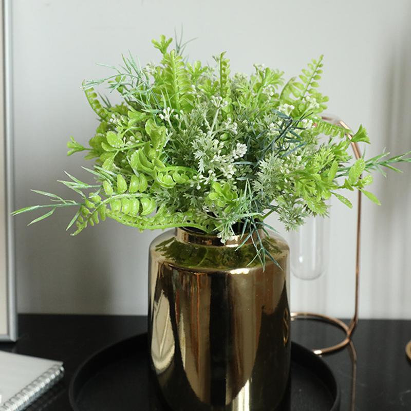 1 ramo verde Planta artificial DIY Bouquet Acessórios plástico planta da flor Berry