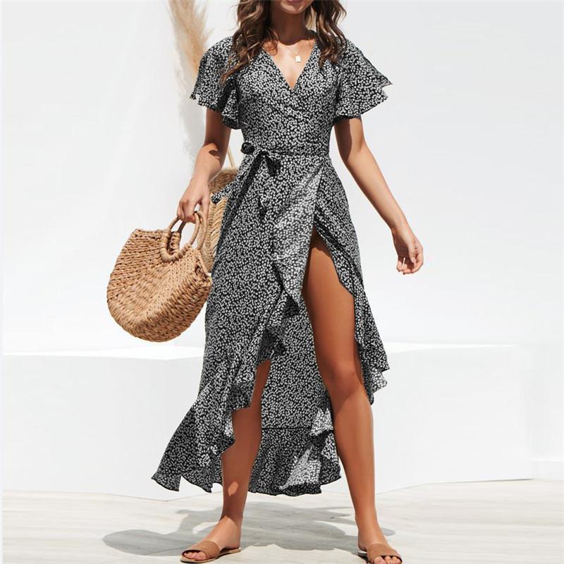Womens Vestidos Moda 2020 Novos Vestidos de designer com lantejoulas Polka Mulheres Partido Dot manga comprida Vestidos Streetwear PH-csl20010810