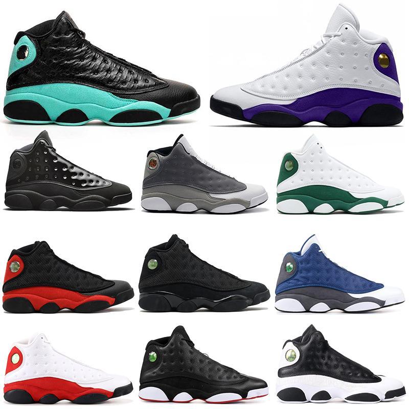 2020 остров Зеленый 13С мужчины баскетбол обувь 13 соперников повезло, зеленой шапочке и мантии Баронс плей-офф тренеры мужская легкая атлетика кроссовки спортивные 7-13