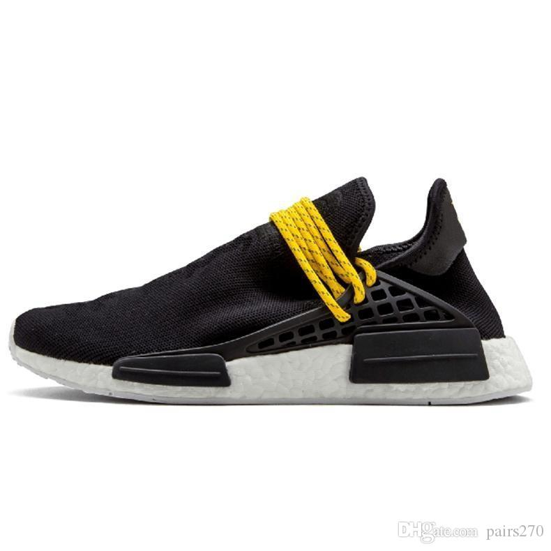 Men Fashion Free Ship Race Pharrell Williams Sports Running Shoes discount Cheap Athletic mens Shoes