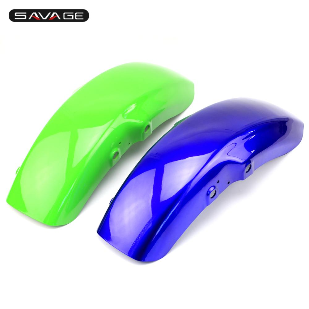 Front Mudguard Fender Splash Guard For KAWASAKI ZRX400/ ZR400 ZRX-II 1995-2008 Motorcycle Accessories ABS Blue/Green