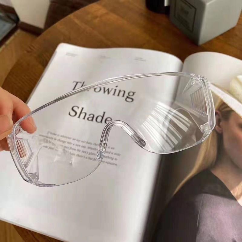 Antiappannamento sicurezza unisex occhiali di protezione trasparente alla polvere di vetro di modo i vetri di protezione degli occhi per le donne degli uomini con trasporto veloce