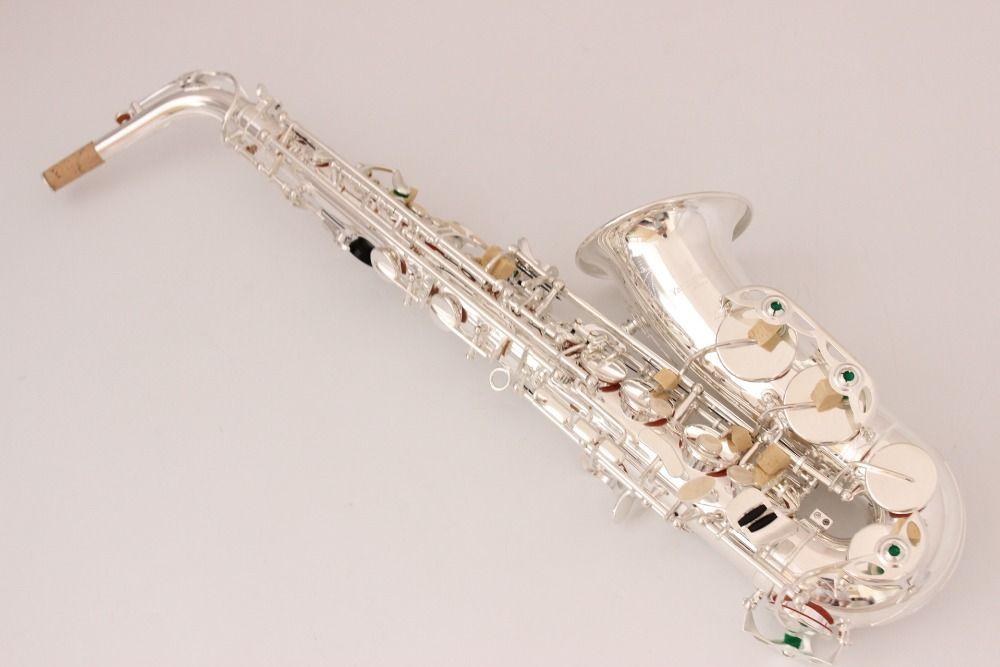 Migliore qualità yanagisawa sassofono contralto A-W037 argento sassofono contralto boccaglio legatura ance collo strumento musicale accessori