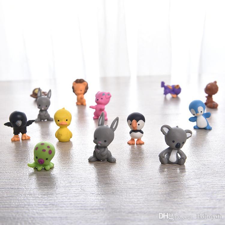 Miniature Hand 3D Model Decoration Cat Dog Simulation PVC Animal Doll Micro landscape Accessories Surprise Egg Toy