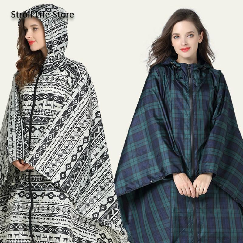 Large Size Raincoat Women Windbreaker Hiking Travel Long Rain Coat Suit Poncho Waterproof Raincoats Gabardina Mujer Rainwear