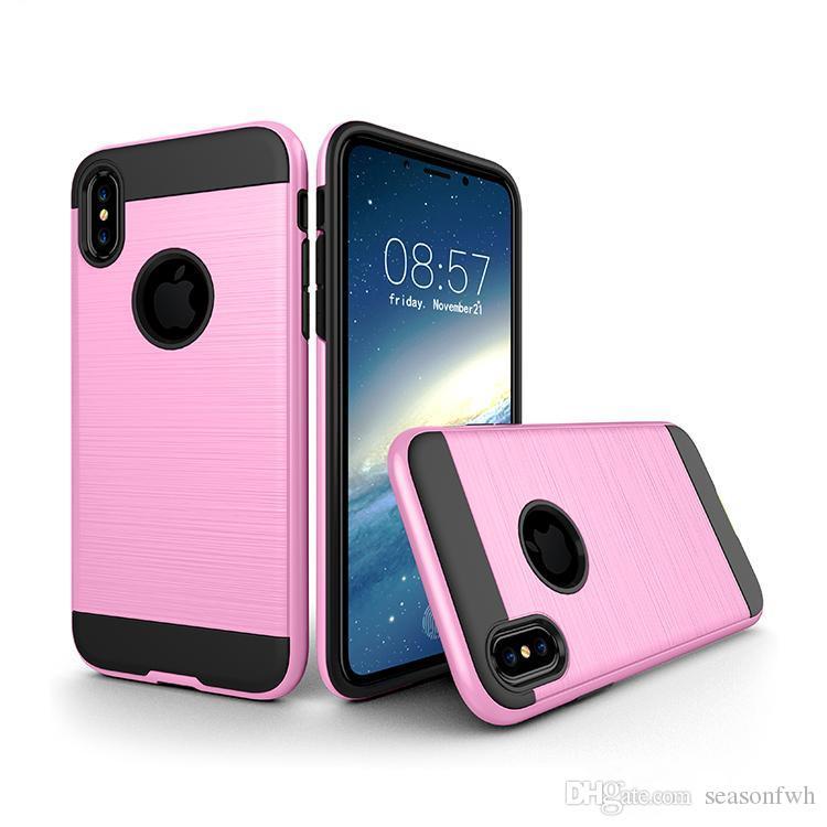 Étui de protection antichoc pour iphone x TPU dur TPU souple pour iphone 8plus 8 7plus 6S pour samsung Note 8
