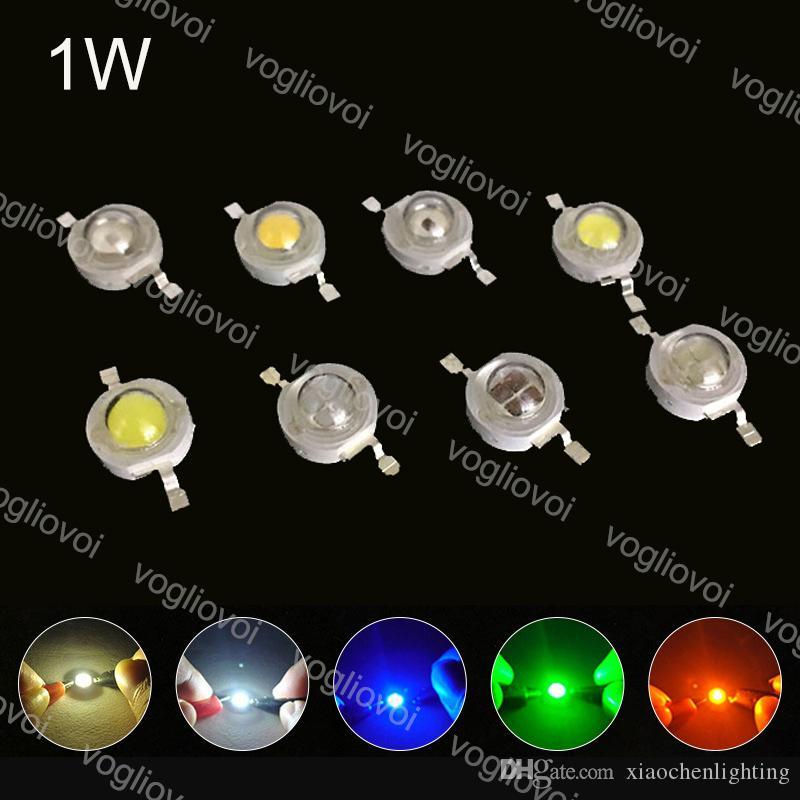 Light Beads High Power 1W Diodes LEDs Chip Warm White UV Multicolor Lighting Accessories For LED Spotlight Downlight Bulb Grow Light EUB