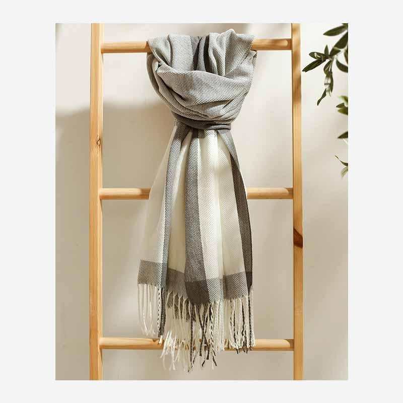 Solido nappa sciarpa di lana 200 * 70cm 21 colori caldo lungo Sciarpe morbida sciarpa dell'involucro nappe inverno caldo scialle OOA4363