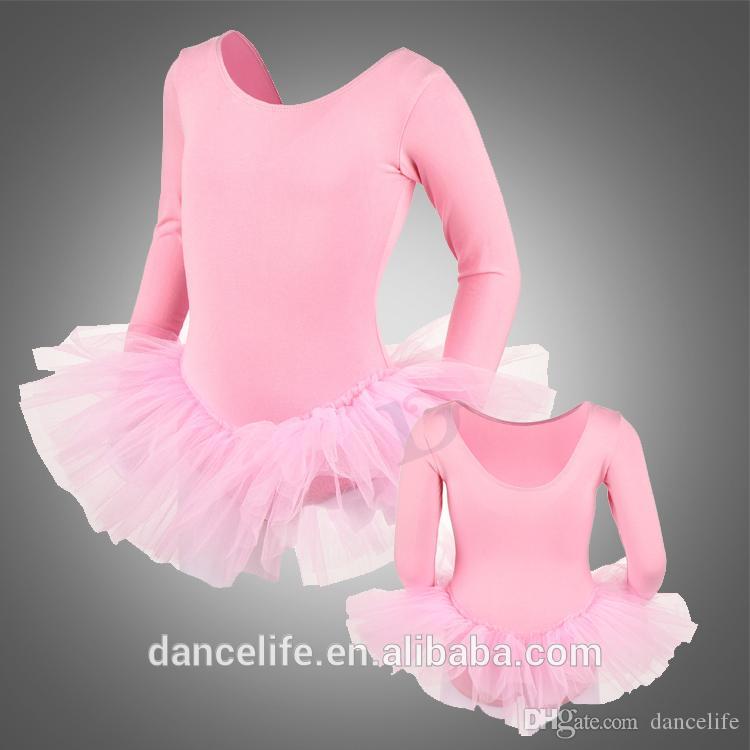 Barn långärmad ballett tutu c2224 grossist praxis tutus rabatt dans kostymer