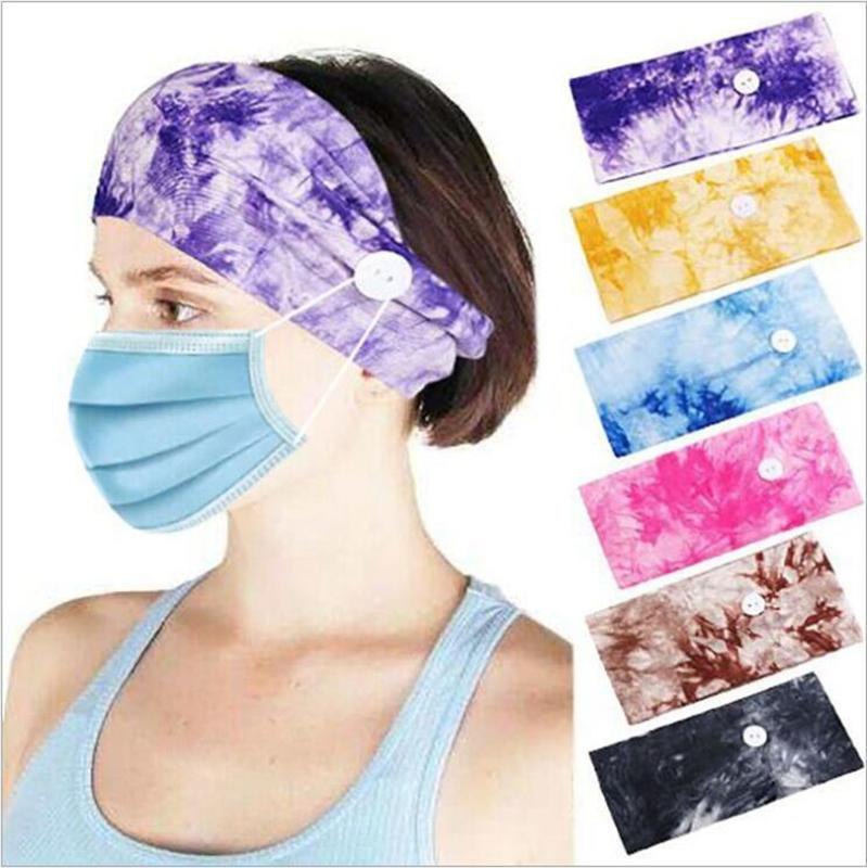 Tie-Dye Ethnische Turban Stirnband-elastische Yoga Verstellbare Non-Slip Hair Sport Sweat Basketball Schweißband Stretch-Stirnband DDA46