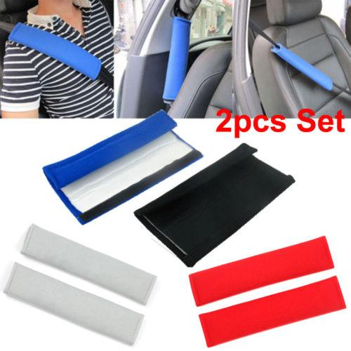 2Pcs Car Safety Seat Belt Shoulder Pads Cover Cushion Harness Pad Protector New
