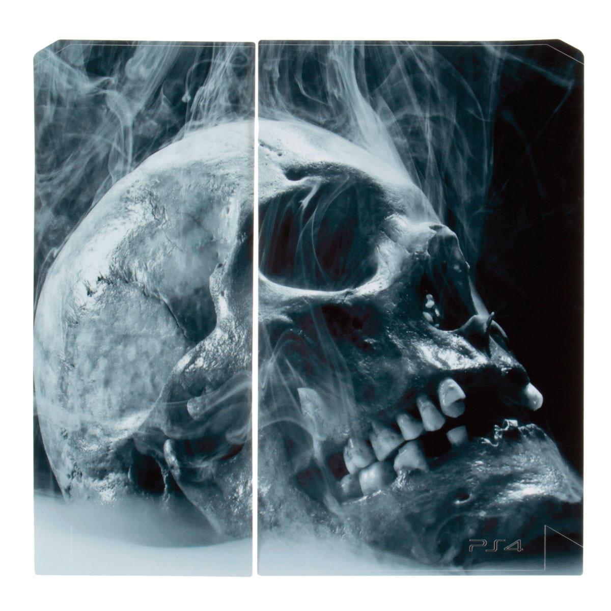 Schädel-Haut-Art-Aufkleber für PS4 Play Station 4 Console 2-Controller Vinyl Aufkleber