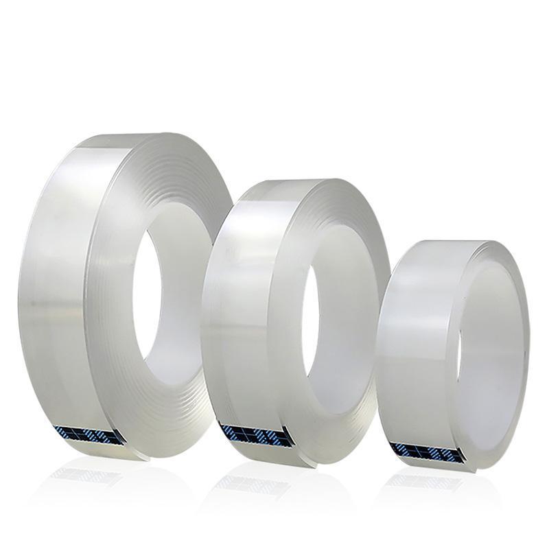 1/2 / 3 / 5м многоразовый Двухсторонняя клейкая лента Nano Traceless Съемный стикер моющийся клейкая лента оптом