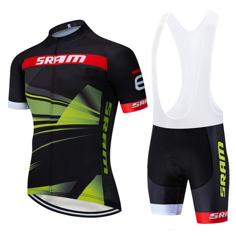 Mens Suit Ciclismo Jersey Bike Wear Verão Quick Dry Bike Shirts Ciclismo Roupa 2020 Pro Team New 9D Gel respirável Pad