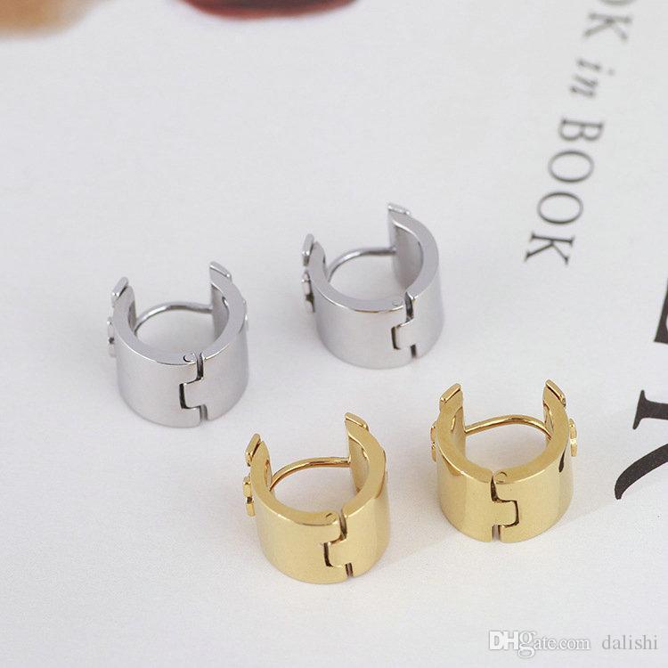 Ücretsiz nakliye Sıcak satış Gerçek Altın / Gümüş Kaplama Hoop Huggie saplama Dorp Küpe Popüler Marka Sıcak Satış Mektubu küpe