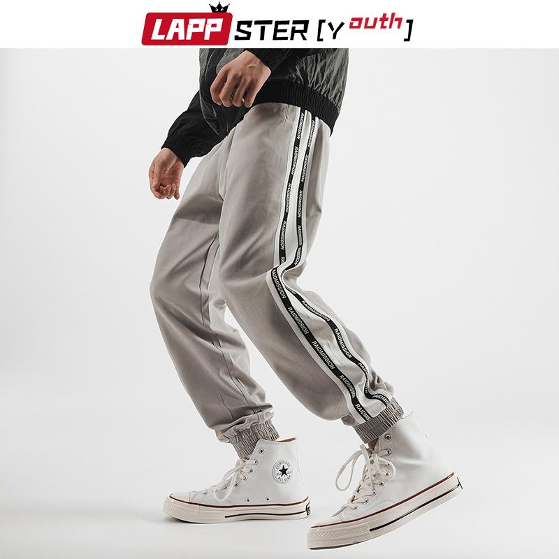 LAPPSTER-Yıldız Erkekler Yan Çizgili Harajuku Koşucular Pantolon 2020 tulumları Erkek Japon Streetwear Casual Sweatpants Pamuk Pantolon