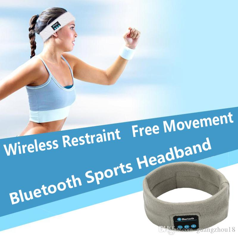 2019 Spor Kablosuz Bluetooth Kulaklık Müzik Şapka Bandı Kulaklık Koşu Kulaklık Yoga Ter Eşarp Başkanı Wrap Cep telefonu Smartph için Caps