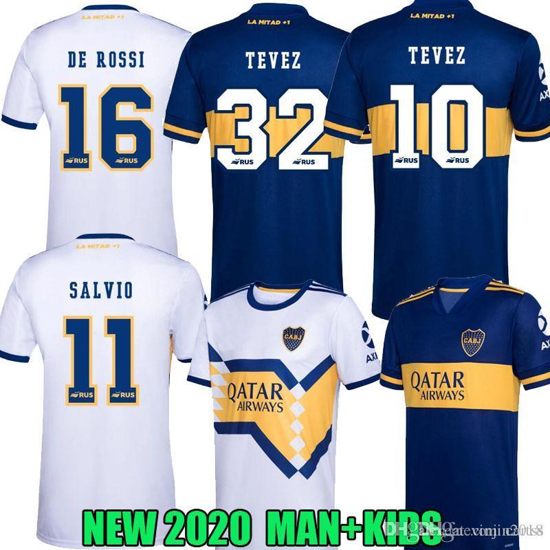 NUEVO 20 21 Boca Juniors Fútbol ALEXIS SALVIO DE ROSSI hogar lejos 2020 2021 TEVEZ BENEDETTO Nández PAVON HOMBRE KIDS KIT DE camisetas de fútbol