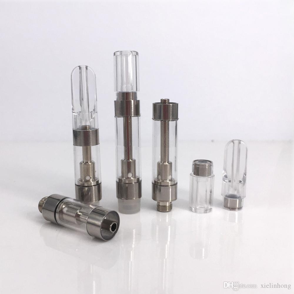 FDA Толстые Bho масло Vape Картридж керамический Coil 0.5ml 1мл бессвинцовый Испаритель Pen Atomizer с прессой на мундштук M6T05 M6T10