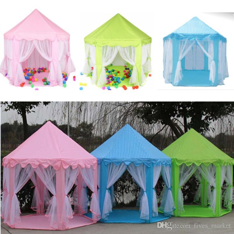 휴대용 어린이 장난감 공주 텐트 성 어린이 정원 하우스 재미있는 실내 야외 스포츠 플레이 하우스 장난감 AN2876를 게임 텐트 용품 플레이