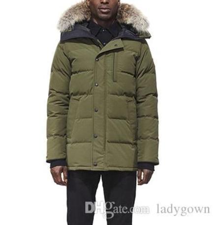nova Canadá Homens Inverno de Down Parkas Hoodie Navy Grey Black Jacket Casaco de Inverno Parka Pele venda com frete grátis Outletac1d #
