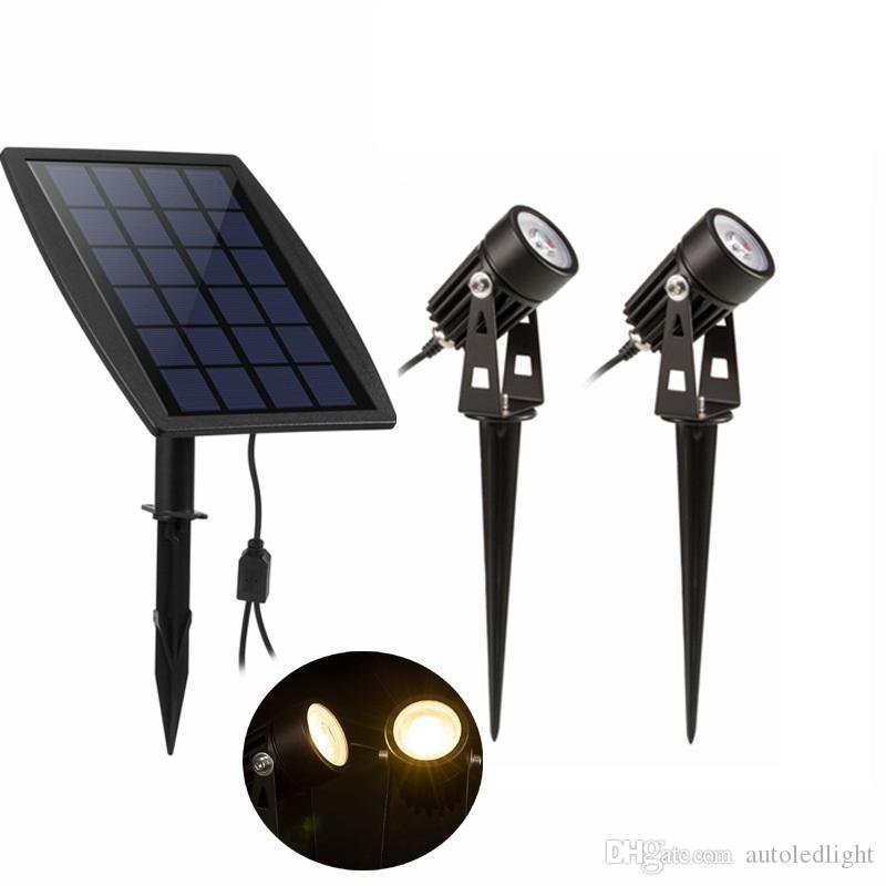 LED Landscape Solar Lawn Lamps Outdoor Solar Spotlight Waterproof Outdoor landscape lighting Solar Garden Exterior Lights
